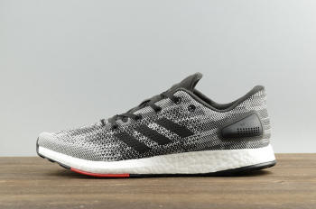 Adidas Pure Boost DPR Core Black White Grey Red Running Trainer S80993