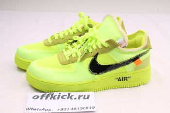 OFF-WHITE X AIR FORCE 1 Fluorescent Green AO4606-700