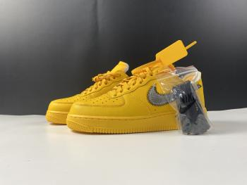 Nike Air Force 1 Low OFF-WHITE University Gold Metallic Silver DD1876-700